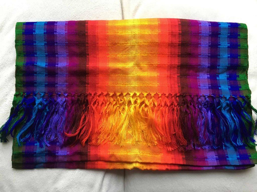 Rebozo multicolore Guatemala rainbow